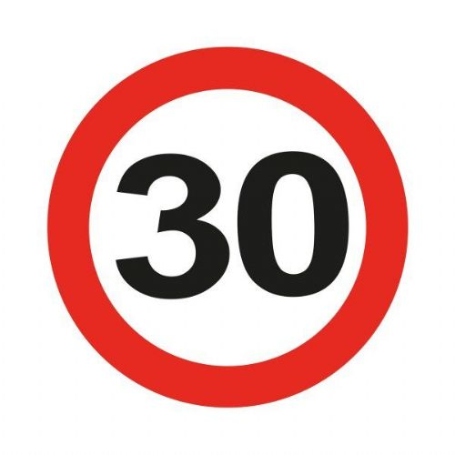 Traffic Sign 30th Party Badge Led Flash Birthday Favour Favor Gift
